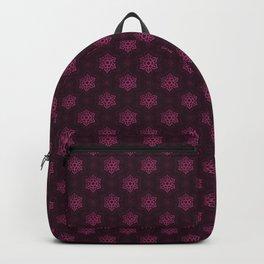 Festive Pink Snowflake Pattern Backpack