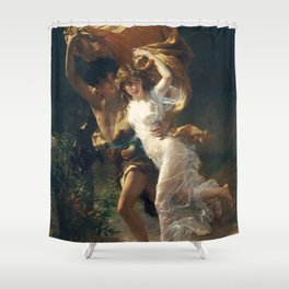 The Storm by Pierre-Auguste Cot 1880, French Shower Curtain