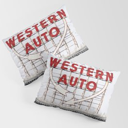 Western Auto Vintage Neon Sign Pillow Sham