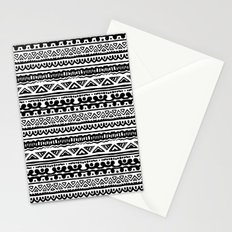 Ethnic stripes in black and white Stationery Cards