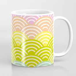 Seigaiha or seigainami literally means blue wave of the sea. rainbow pattern abstract scale Coffee Mug