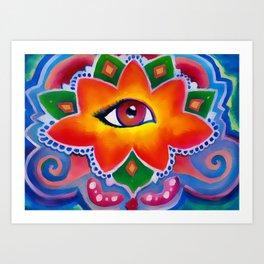 Eye of the Lotus Art Print