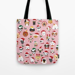 Christmas Dog Pattern Illustration Tote Bag