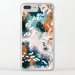 Clara Abstract Clear iPhone Case