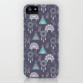 Indian Pattern Purple iPhone Case
