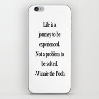 winnie the pooh iPhone & iPod Skins featuring Winnie the Pooh Quote by Scarlett Alaska