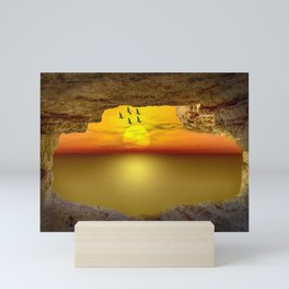 Sunset from the Cave Mini Art Print