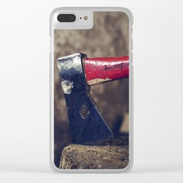 Axe to Grind Clear iPhone Case