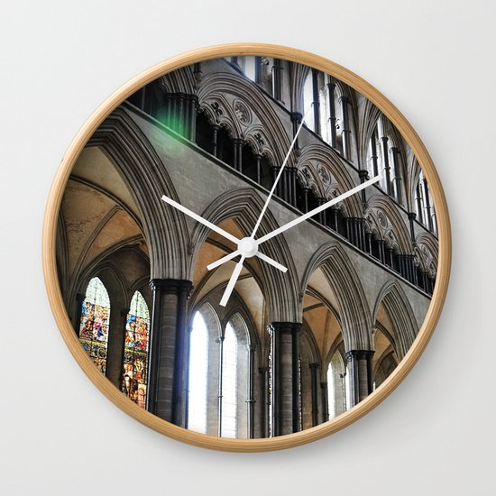 Salisbury Cathedral Wall Clock By Artemio Studio Society6