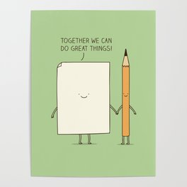 Together we can do great things! Poster