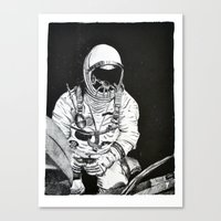 spaceman Canvas Prints featuring Spaceman by Bri Jacobs