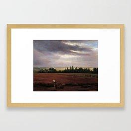 Johan Christian Claussen Dahl - Landskap i nærheten av Dresden Framed Art Print