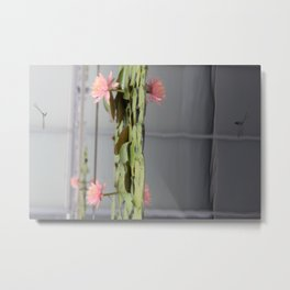 Dragonfly and the Lotus Metal Print