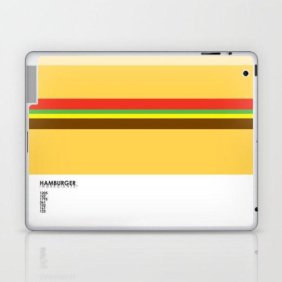 Pantone Food - Hamburger Laptop & iPad Skin