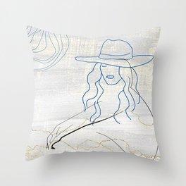sitting around Throw Pillow
