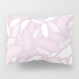 Feather Pattern Pink Pillow Sham