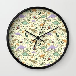 Cute Dinosaurs Wall Clock
