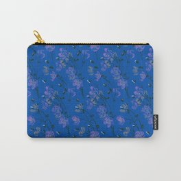 Poppy Floral - Blue Carry-All Pouch