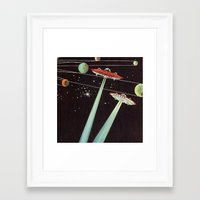 aliens Framed Art Prints featuring Aliens  by dreamshade