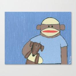Sock Monkey 69 Canvas Print