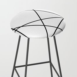 Lines in Chaos II - White Bar Stool
