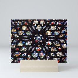 Stained glass sainte chapelle gothic Mini Art Print