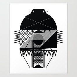 Make Things Slithy Different_the Mask Art Print