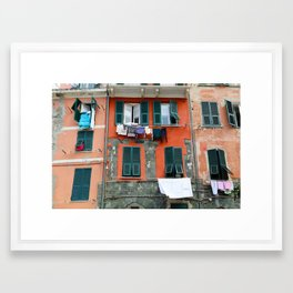 All About Italy. Piece 9 - Vernazza Windows Framed Art Print