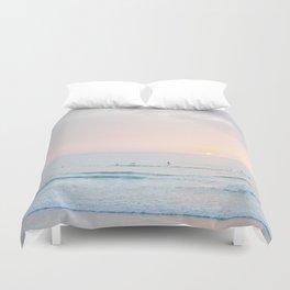 sunset surf session Duvet Cover