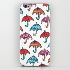 watercolour umbrella iPhone & iPod Skin