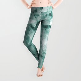 Mint Green Crystal Marble Leggings