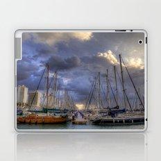 Tel-Aviv Yacht harbor & boats at winter, Israel Laptop & iPad Skin