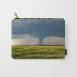Behind the Scene - Large Tornado Passes Safely Behind a Farmhouse in Kansas Carry-All Pouch