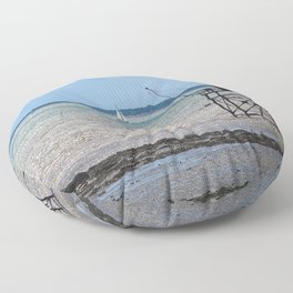 Fisherman house at ré island Floor Pillow