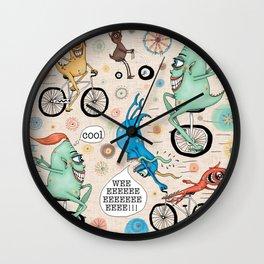 Cycling Cyclops or Cyclops Cycling Wall Clock
