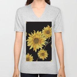 Sunflower Pattern 2 Unisex V-Neck