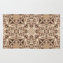 Capuccino kaleidoscope Rug