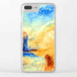 William Turner Mountain Landscape with Lake Clear iPhone Case