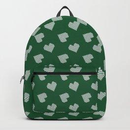 Green & White Hearts Backpack