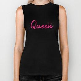 Pink Queen Design Biker Tank