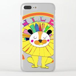 A Lion in the Wild City Clear iPhone Case