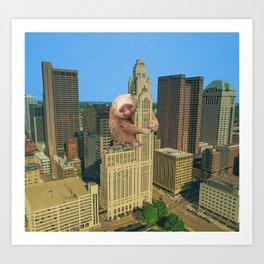 Sloth City Art Print