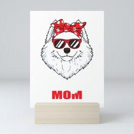 Cool Samoyed Dog Mom Dog Lover Pet Gift Mini Art Print