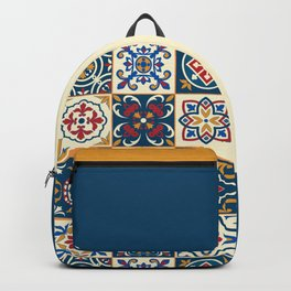 Moroccan Tiles Pattern Multicolor Backpack