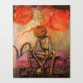 Halloween Head: Monsters Canvas Print
