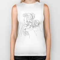 mermaids Biker Tanks featuring Mermaids by Coily and Cute