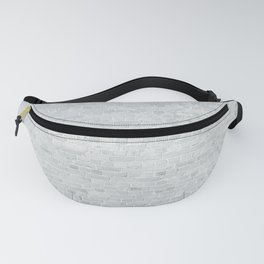 White Washed Brick Wall Stone Cladding Fanny Pack