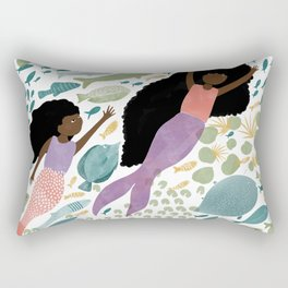 Mermaids and Fish in the Ocean Rectangular Pillow
