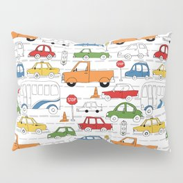 Busy Traffic Pattern Pillow Sham