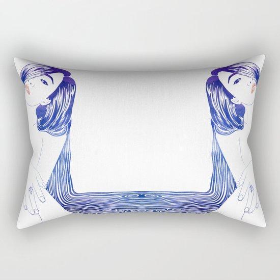 Water Nymph XL Rectangular Pillow